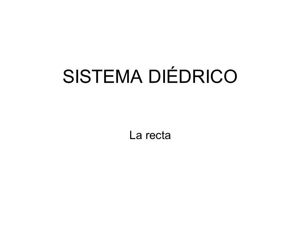 SISTEMA DIÉDRICO La recta