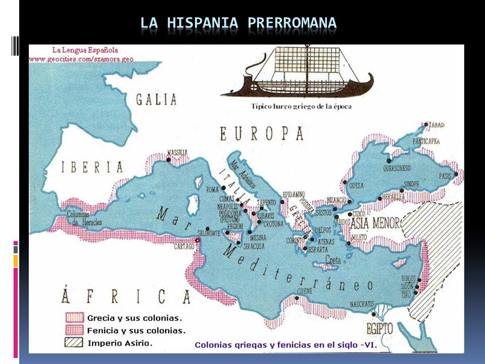 1. Elementos no indoeuropeos e indoeuropeos. 2. Llegada de los romanos 218 a.c (2º guerra púnica) y del latín. 3. Antes había un mosaico de lenguas qu