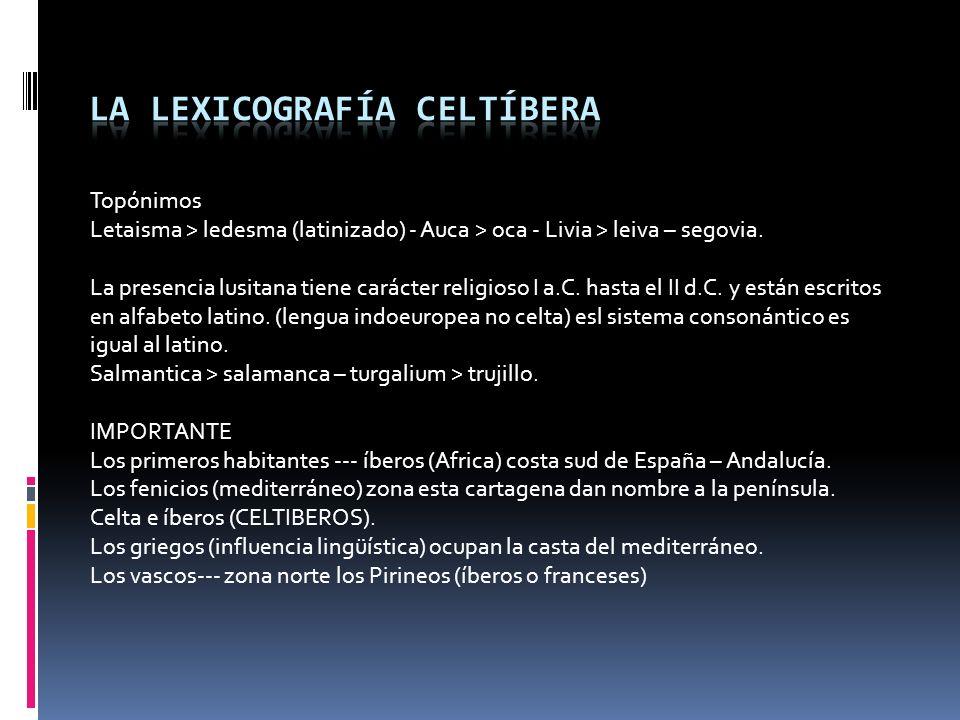 1. Sur del río Ebro desde su nacimiento hasta Zaragoza. 2. Usaron el semisilabario levantino ibérico del S. II al I a.C., después el alfabeto latino.