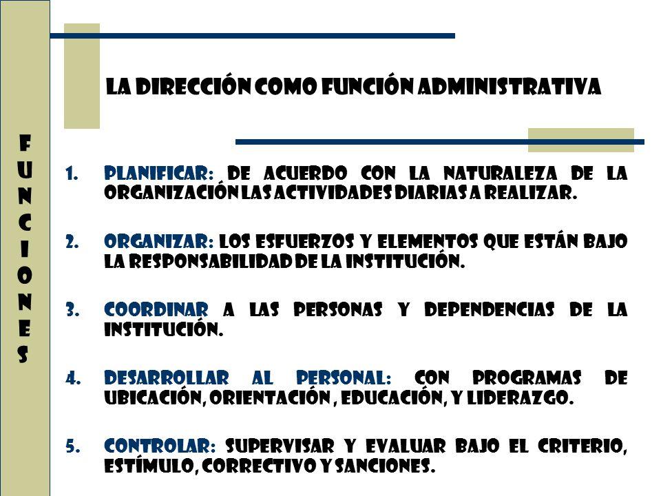 1.Planificar: de acuerdo con la naturaleza de la organización las actividades diarias a realizar. 2.Organizar: los esfuerzos y elementos que están baj