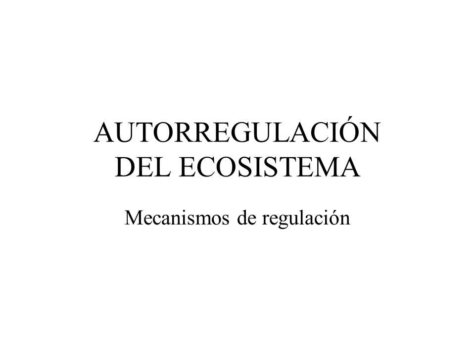 AUTORREGULACIÓN DEL ECOSISTEMA Mecanismos de regulación
