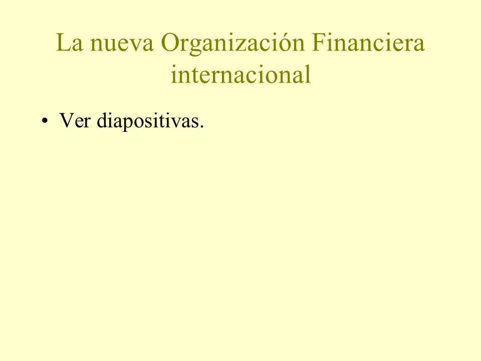 La nueva Organización Financiera internacional Ver diapositivas.