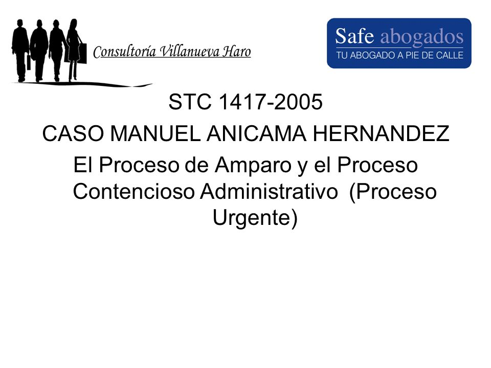 CASO MAXIMILIANO VILLANUEVA VALVERDE STC.