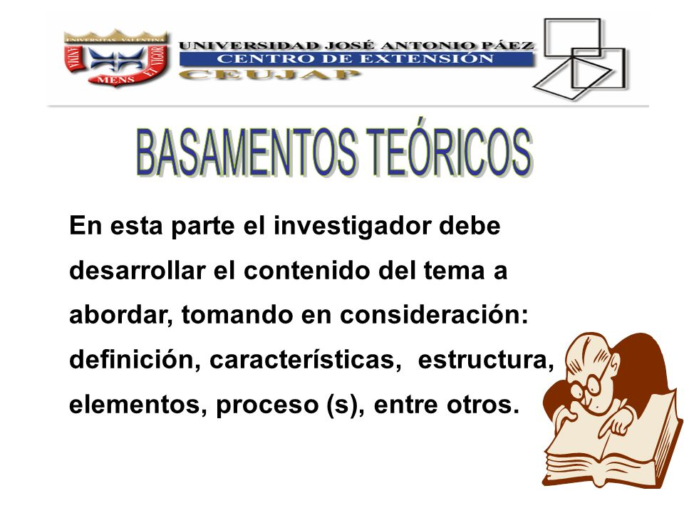 En esta parte el investigador debe desarrollar el contenido del tema a abordar, tomando en consideración: definición, características, estructura, ele