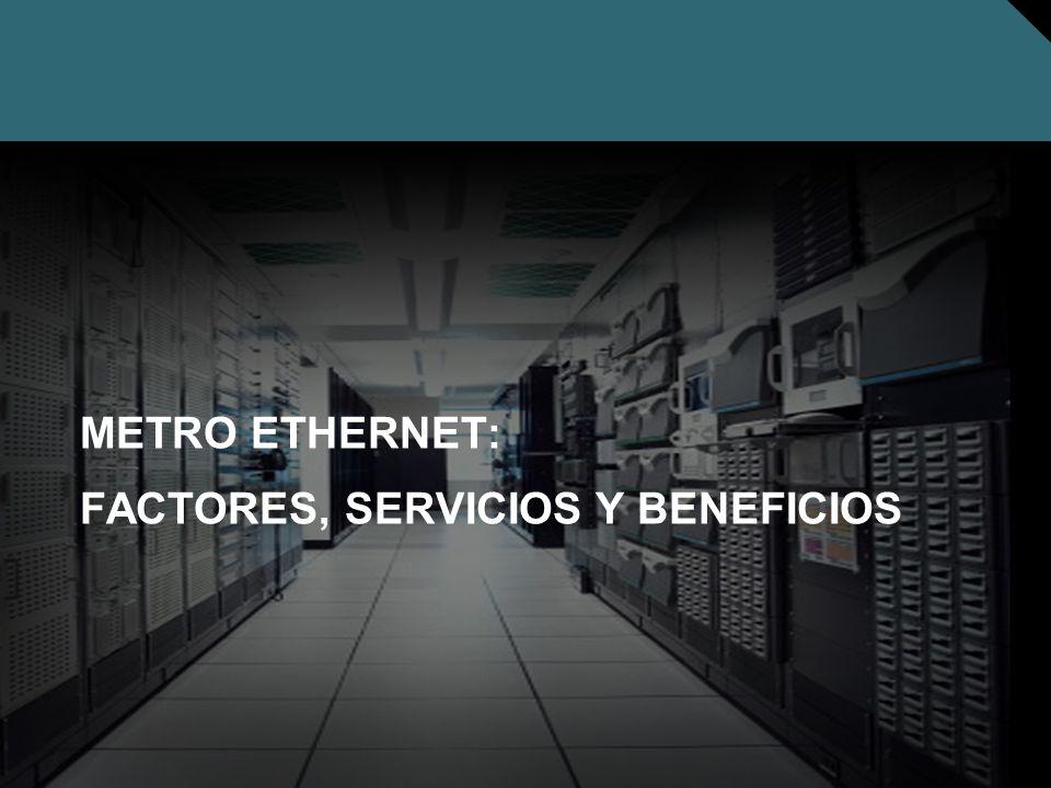 Nº © 2005 Cisco Systems, Inc. Todos los derechos reservados. Cisco Público METRO ETHERNET: FACTORES, SERVICIOS Y BENEFICIOS