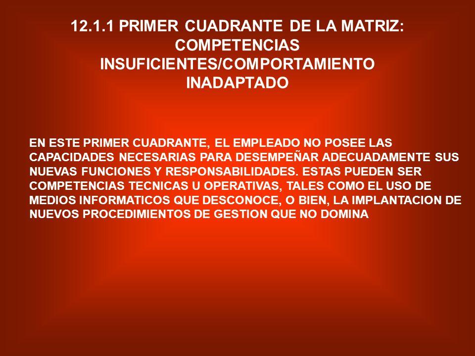 INTRODUCCION FORMACION E INSTRUCCION FORMACION POSICION DESEADA NIVEL DE CAPACIDAD TECNICA Y RELACION INTERPERSO NAL SUFICIENTE INSUFICIENTE INADAPTAD