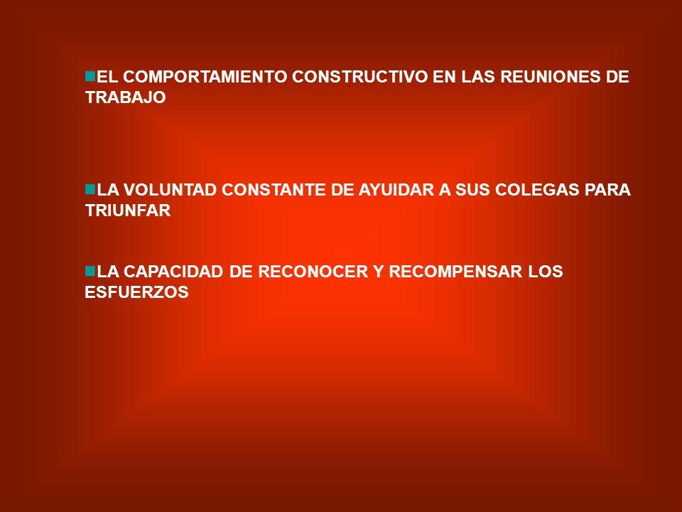 LA CAPACIDAD PARA MOTIVAR A LOS DEMAS LA CAPACIDAD PARA ASUMIR EL ASPECTO POSITIVO DE LOS HECHOS PARA DESPUES ATACAR LOS EVENTUALES PROBLEMAS LA VOLUN