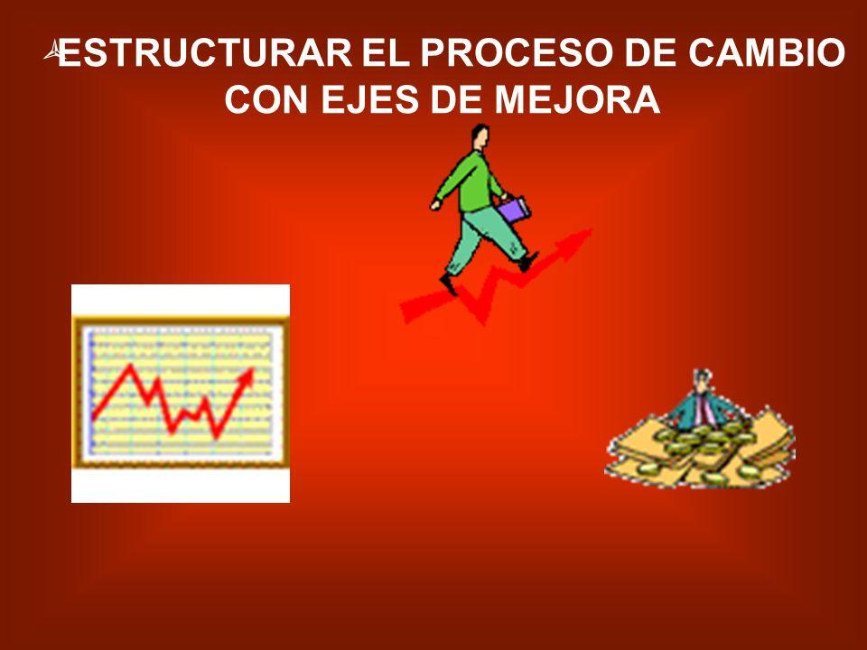 CONFIRMAR Y AFIRMAR LOS ASPECTOS PRINCIPALES DEL PROCESO DE CAMBIO