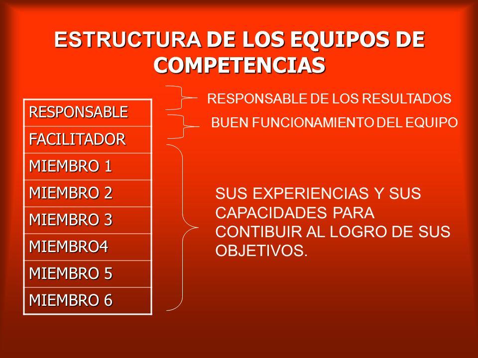 LOS EQUIPOS DE COMPETENCIA La función consiste en concebir soluciones, las soluciones buscadas son complejas, el trabajo en equipo favorece la apropia