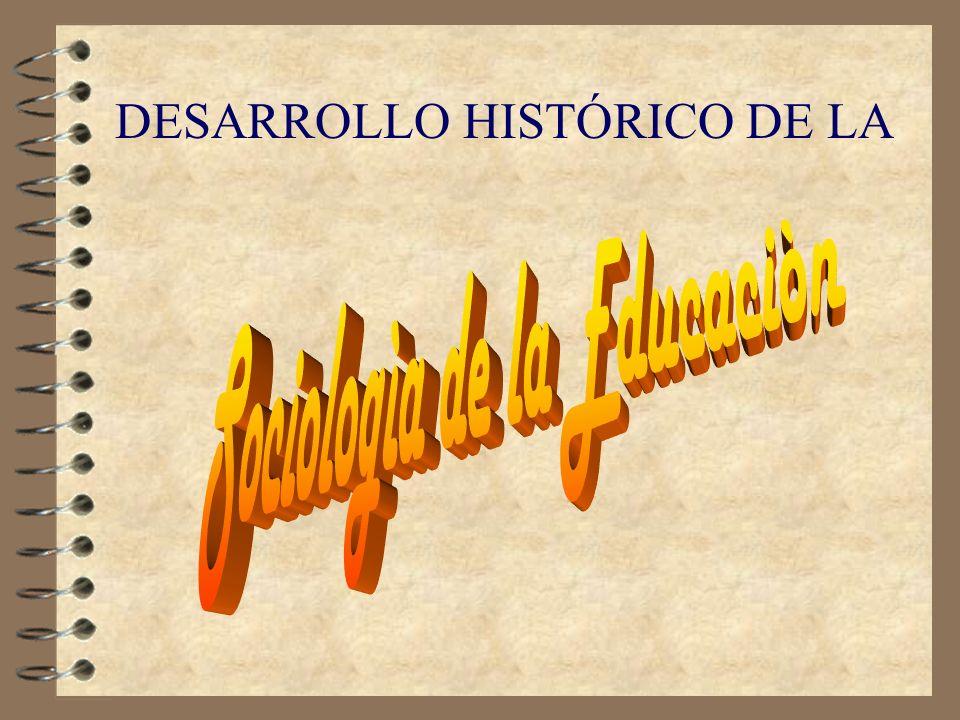 SOCIOLOGIA DE LA EDUCACION 4 Es una disciplina que utiliza los conceptos, modelos y teorías de la Sociología para entender la educación en su dimensió