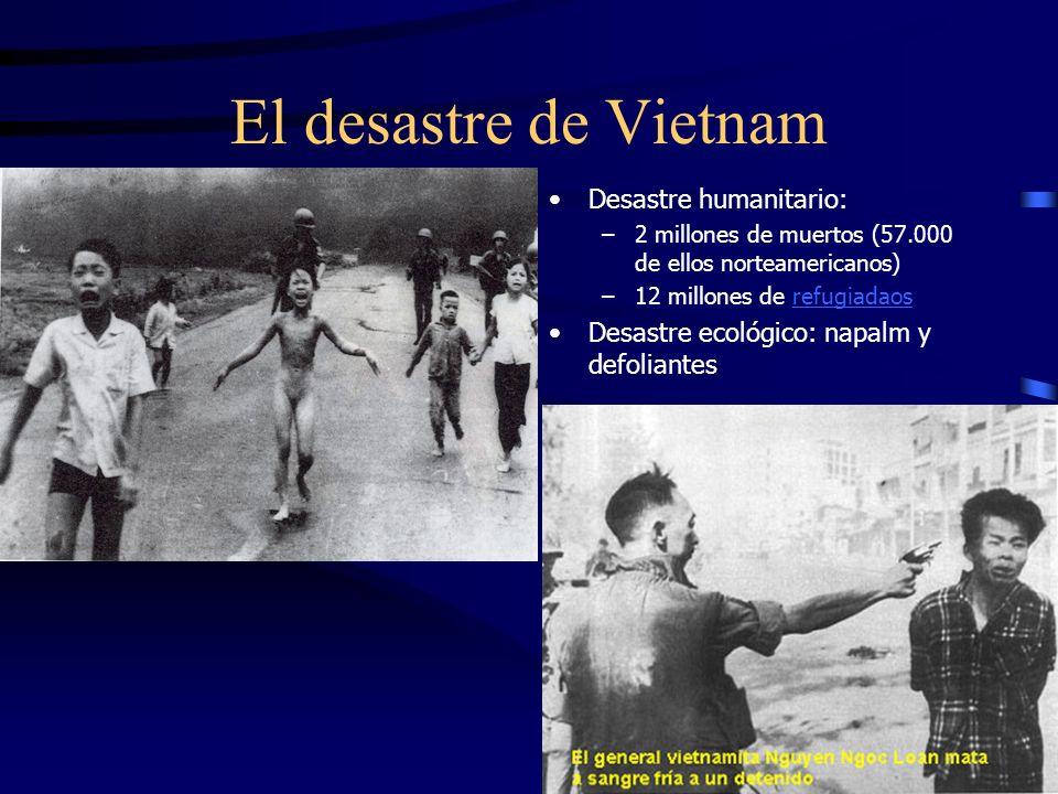 Vietnam y EE UU Causas implicación –Contexto guerra fría –Acuerdos bilaterales de cooperación con Vietnam del Sur Consecuencias –20 años de guerra –Cr