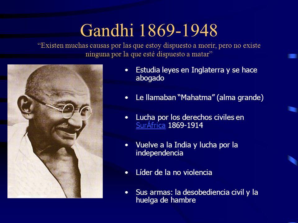 Líderes carismáticos Gandhi Sukarno NasserHo Chi Minh Senghor