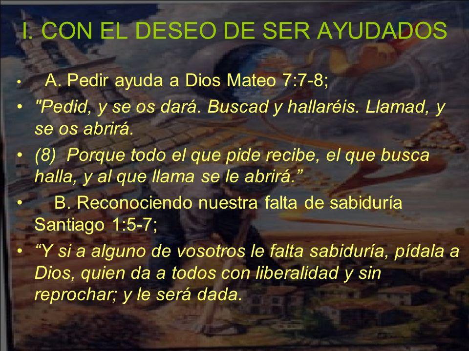 (6) Pero pida con fe, no dudando nada.