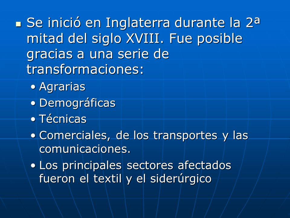 2.Las bases GENERALES de la revolución industrial 2.1.