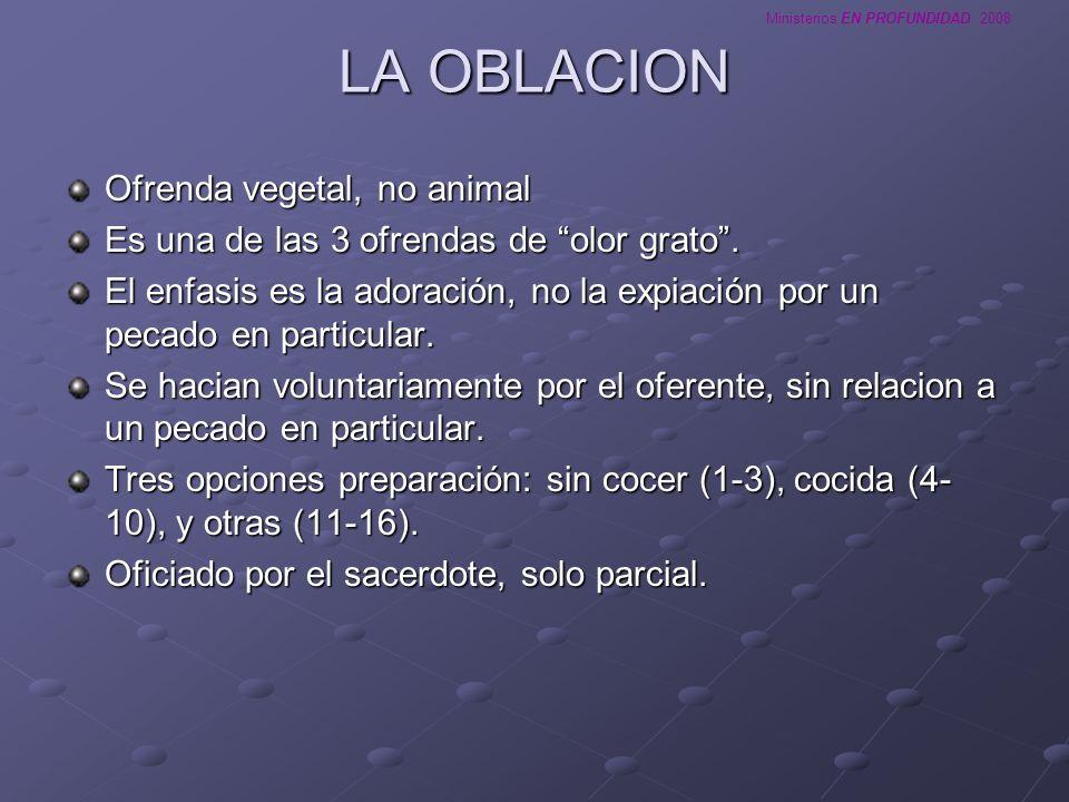 Ministerios EN PROFUNDIDAD 2008 LA OFRENDA DE PAZ Ofrenda animal, macho o hembra.