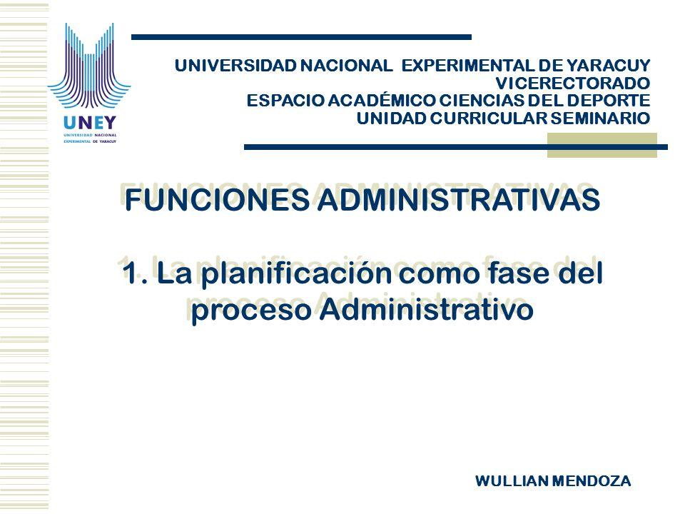 FUNCIONES ADMINISTRATIVAS 1.