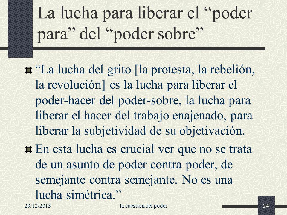 29/12/2013la cuestión del poder24 La lucha para liberar el poder para del poder sobre La lucha del grito [la protesta, la rebelión, la revolución] es