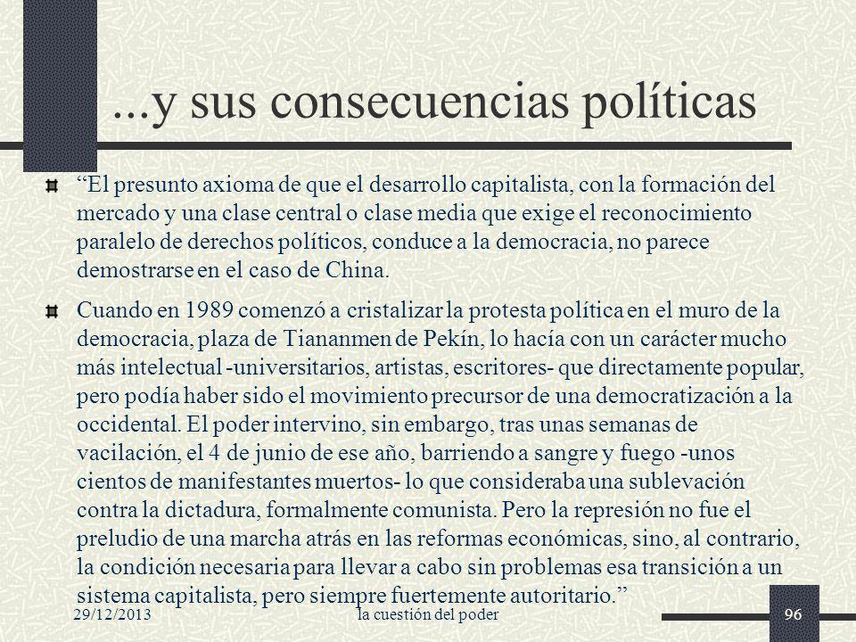 29/12/2013la cuestión del poder96...y sus consecuencias políticas El presunto axioma de que el desarrollo capitalista, con la formación del mercado y