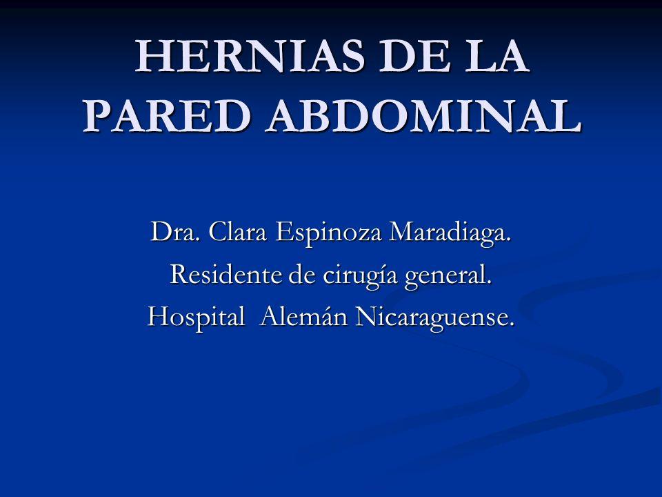 HERNIAS DE LA PARED ABDOMINAL Dra.Clara Espinoza Maradiaga.