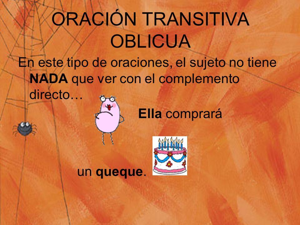 Oración transitiva OblicuaRecíprocarefleja