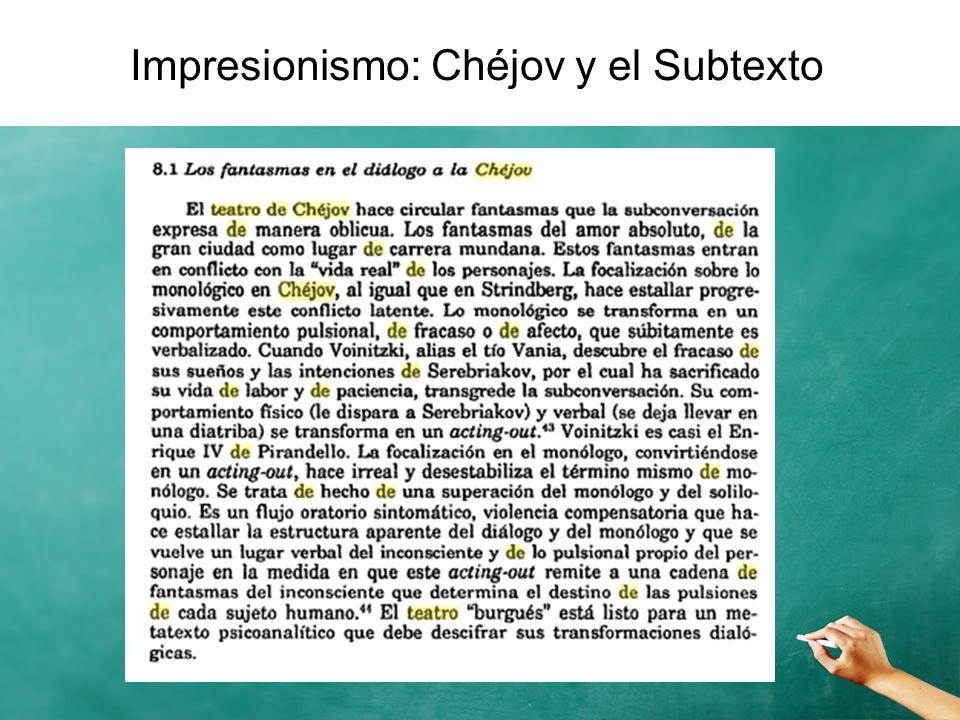 Impresionismo: Chéjov y el Subtexto