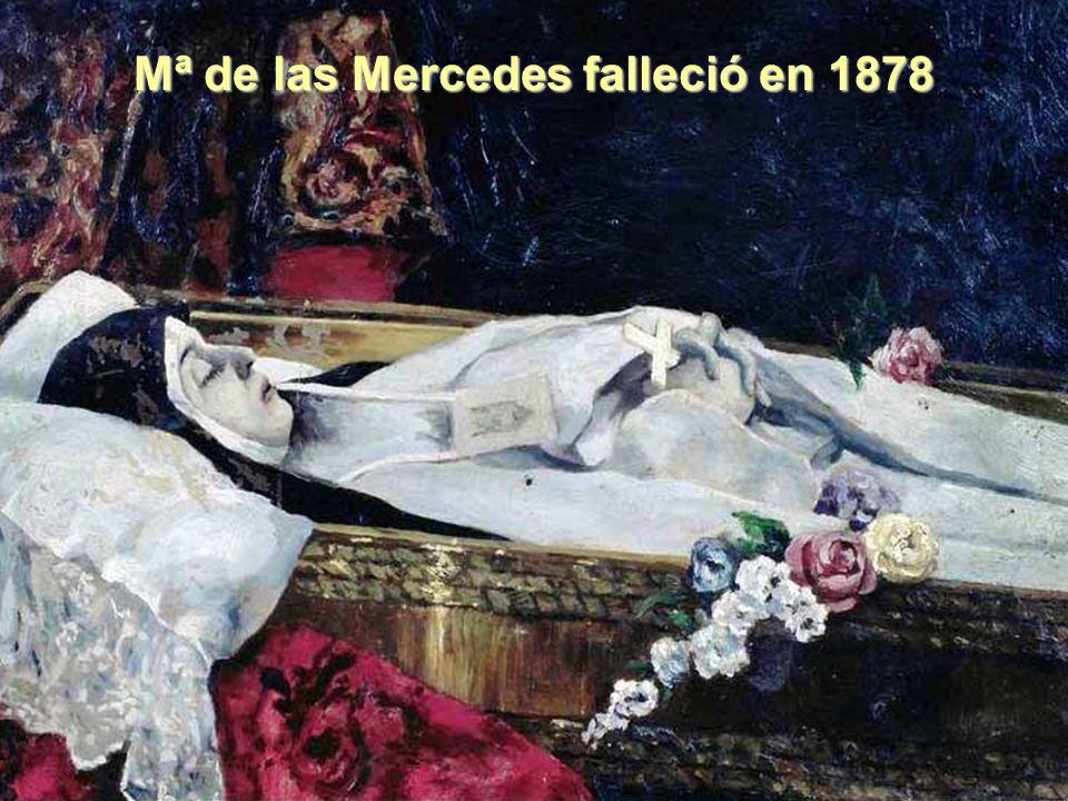 Mª de las Mercedes falleció en 1878