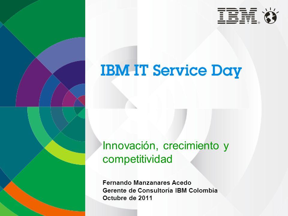 2 Agenda: Entendiendo el crecimiento Innovación como habilitador del crecimiento Habilitando la Innovación Aproximación de IBM a la Innovación Comenzando el camino de la Innovación Conclusiones Preguntas