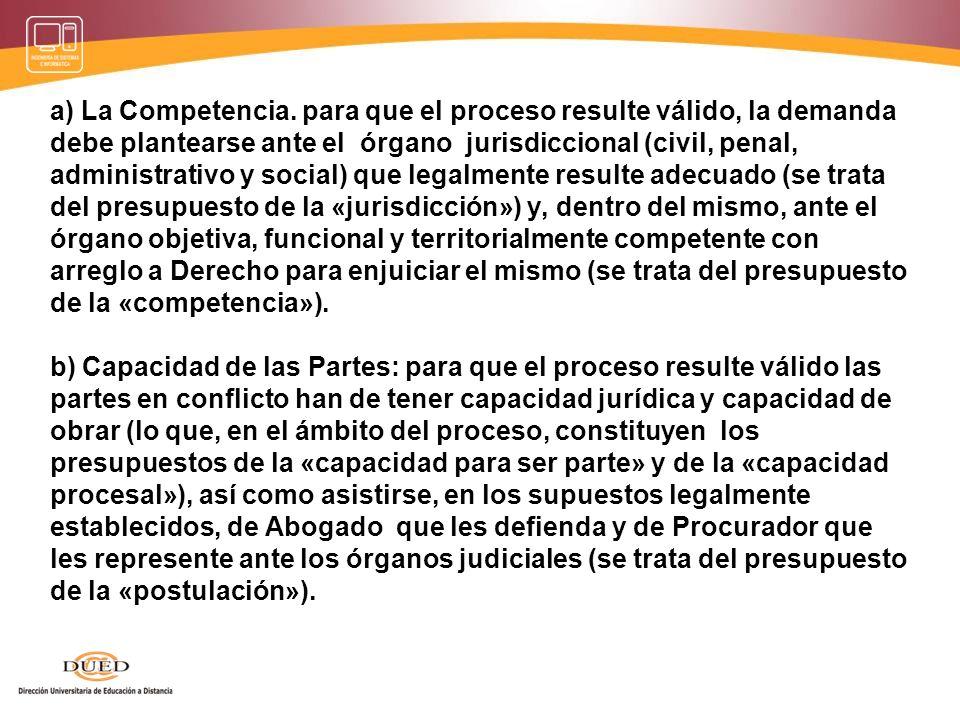 Presupuestos Procesales Condiciones que se requieren para que la relación jurídica procesal nazca, se desenvuelva y culmine con una sentencia de mérit