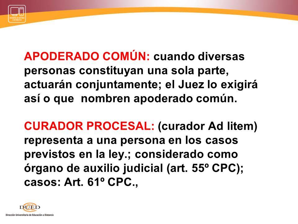Representación Legal: Se genera cuando, por mandato de la ley, los incapaces y las personas jurídicas son representadas por un tercero. La representac
