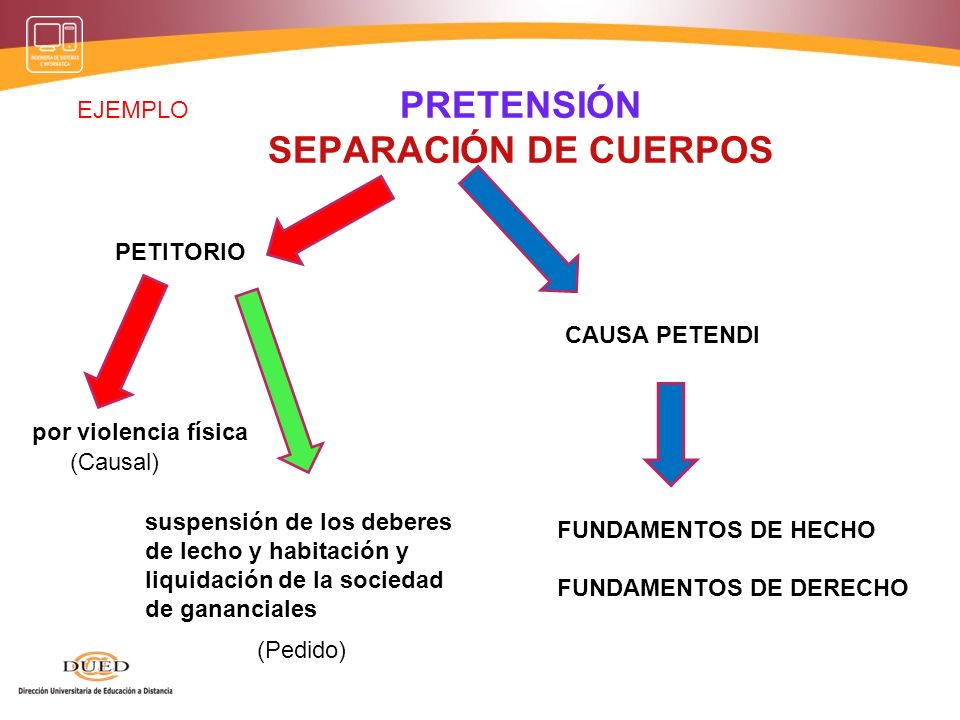 PRETENSION DIVORCIO PETITORIO POR ADULTERIO CAUSA PETENDI FUNDAMENTOS DE HECHO FUNDAMENTOS DE DERECHO Disolución del Vínculo Matrimonial (Causal) (Ped