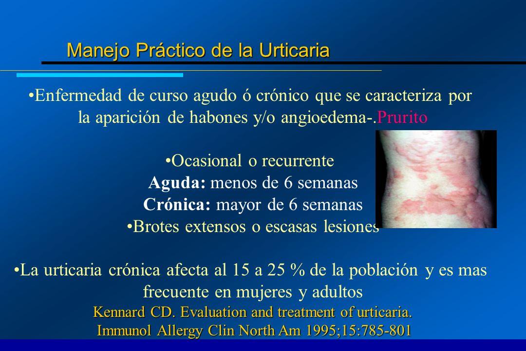 Tratamientos cuando no responden a los antihistamínicos Linfocítica Dapsona: 50 mg B.I.D.