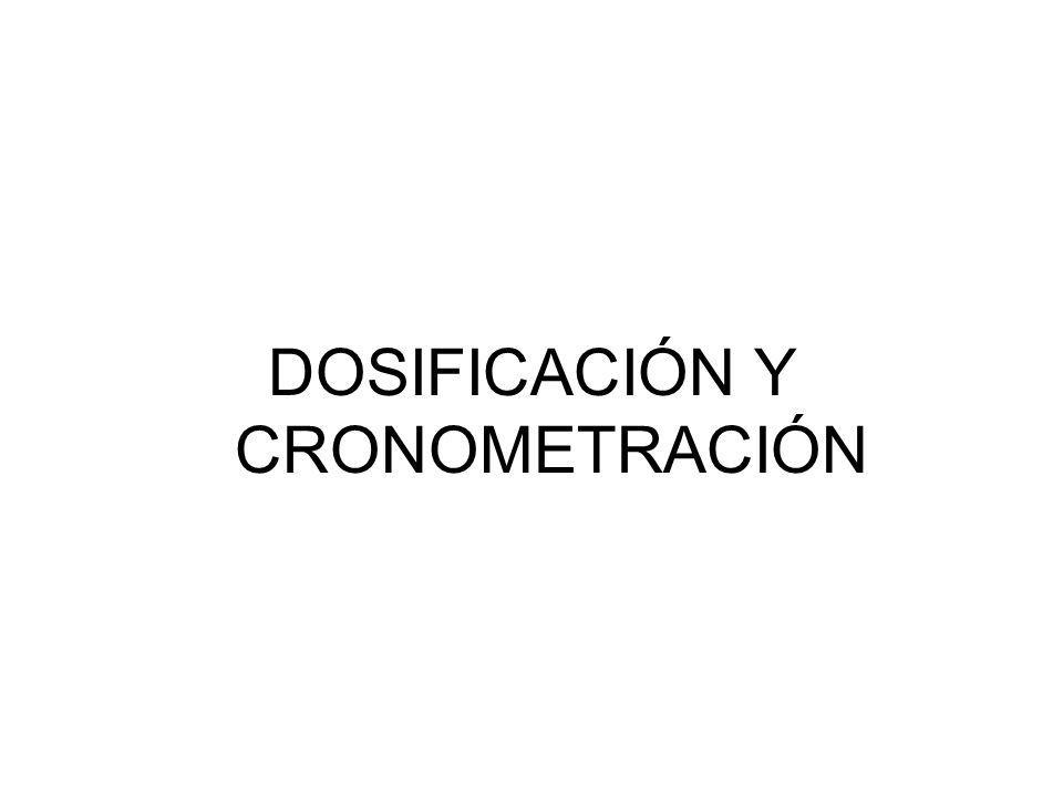 DOSIFICACIÓN Y CRONOMETRACIÓN