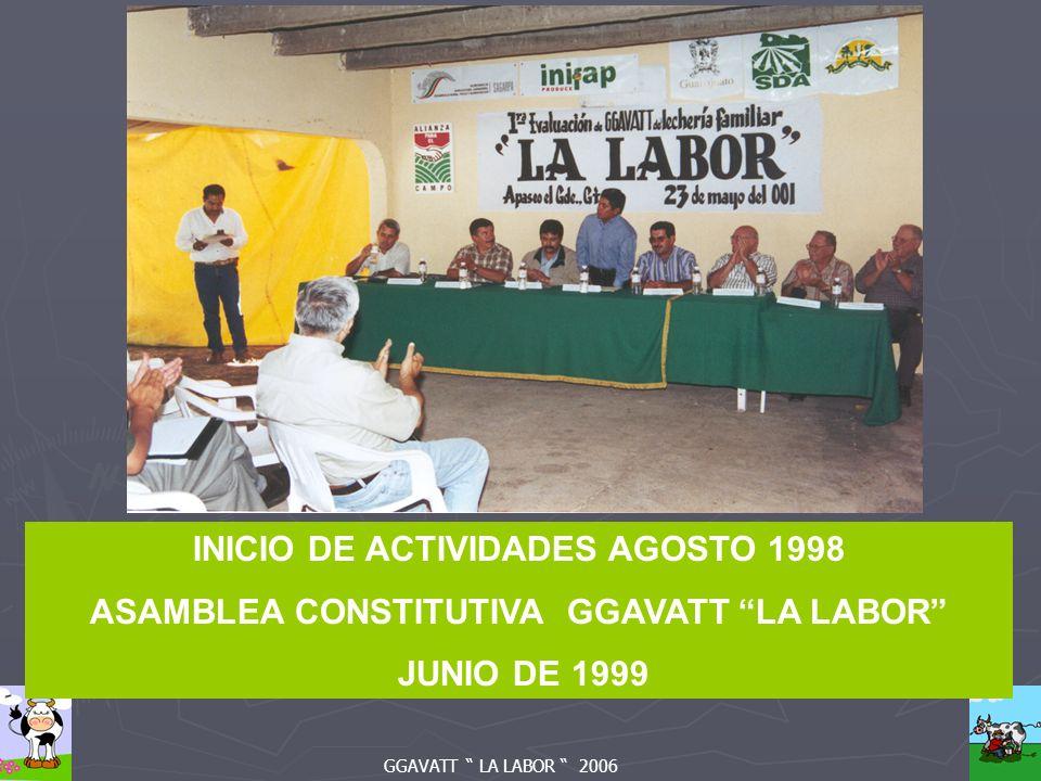 GGAVATT LA LABOR 2006 INICIO DE ACTIVIDADES AGOSTO 1998 ASAMBLEA CONSTITUTIVA GGAVATT LA LABOR JUNIO DE 1999