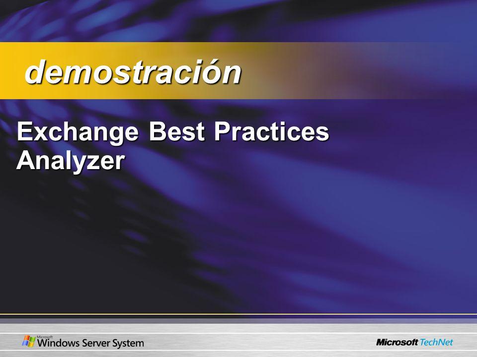 Exchange Best Practices Analyzer demostración demostración