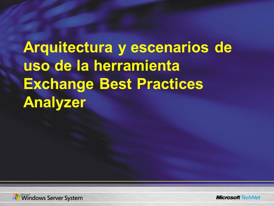 Arquitectura y escenarios de uso de la herramienta Exchange Best Practices Analyzer