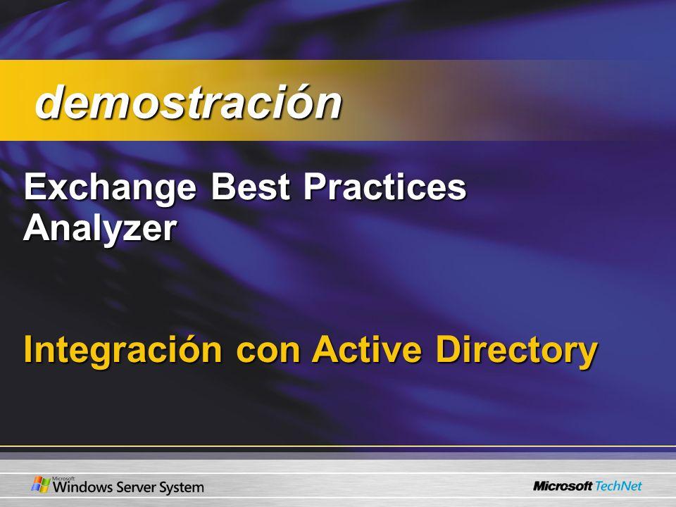 Exchange Best Practices Analyzer Integración con Active Directory demostración demostración