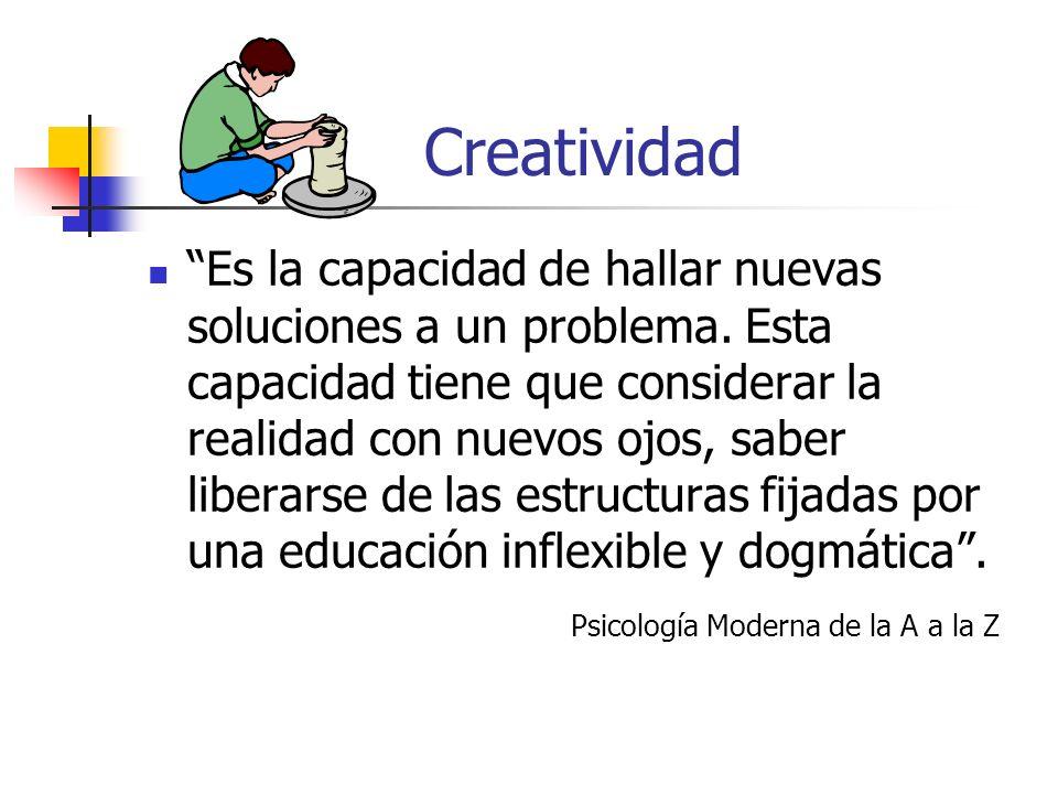 Creatividad Se han hecho estudios de la personalidad de los individuos creativos.
