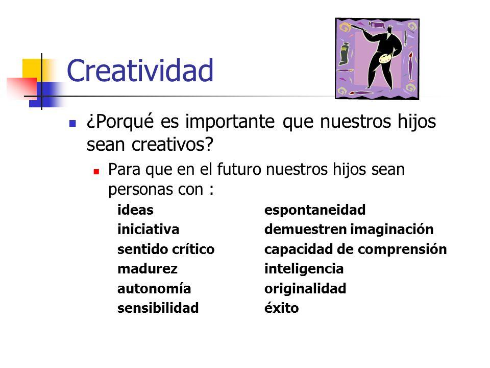 Creatividad Ser creativos es parte de nuestra personalidad.