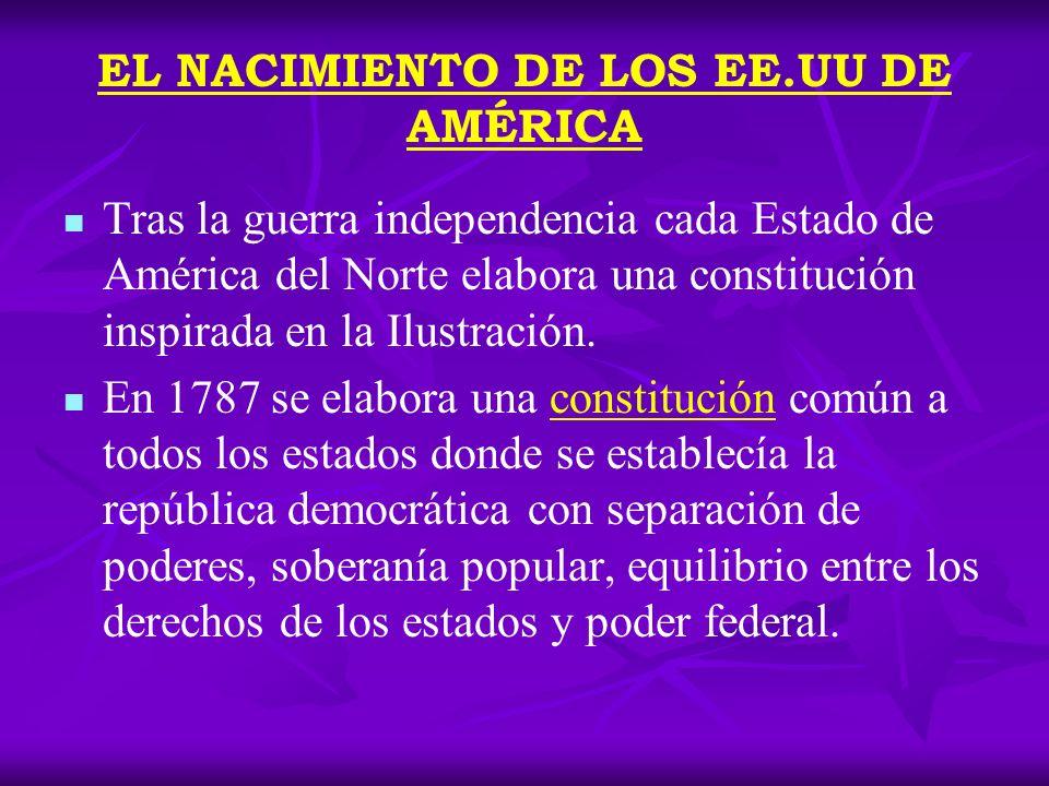 EL NACIMIENTO DE LOS EE.UU DE AMÉRICA ¿Qué es una Constitución.