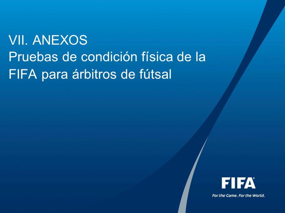 VII. ANEXOS Pruebas de condición física de la FIFA para árbitros de fútsal