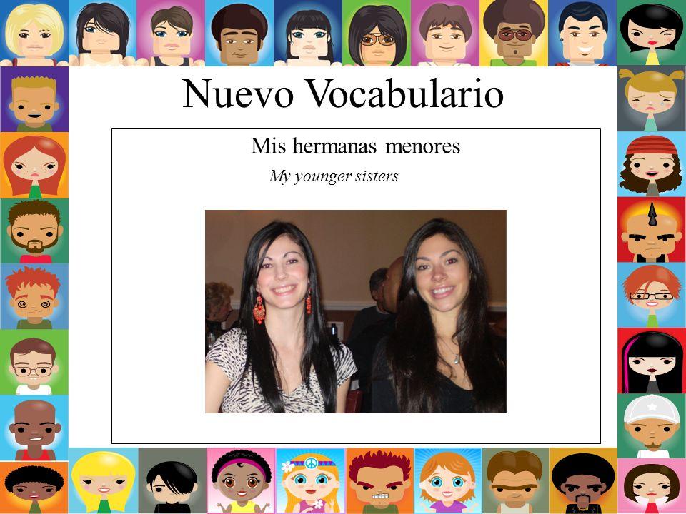 Nuevo Vocabulario Mis hermanas menores My younger sisters