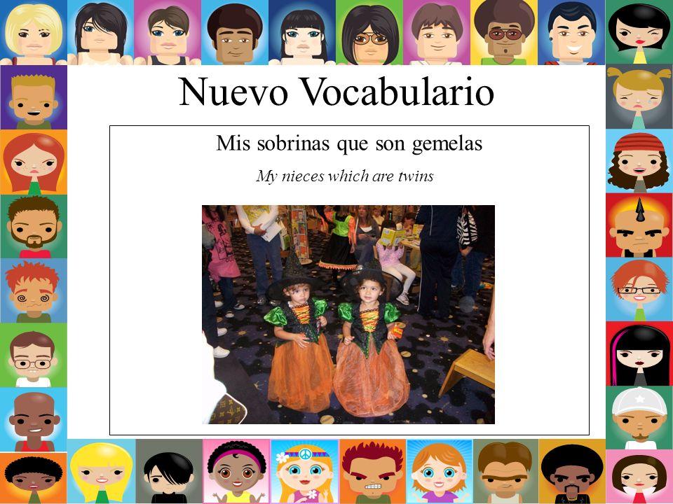 Nuevo Vocabulario Mi sobrino My nephew