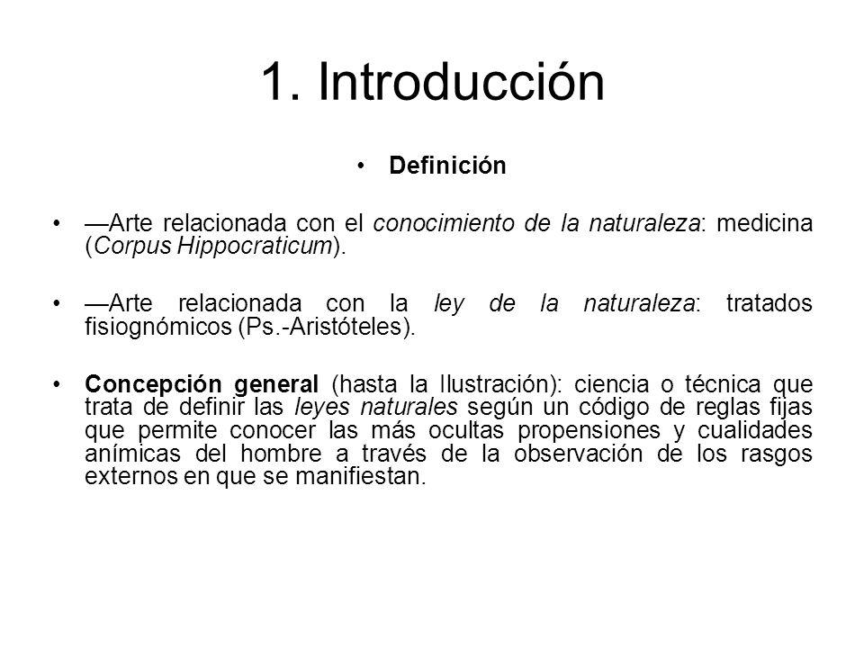 1. Introducción Definición Arte relacionada con el conocimiento de la naturaleza: medicina (Corpus Hippocraticum). Arte relacionada con la ley de la n