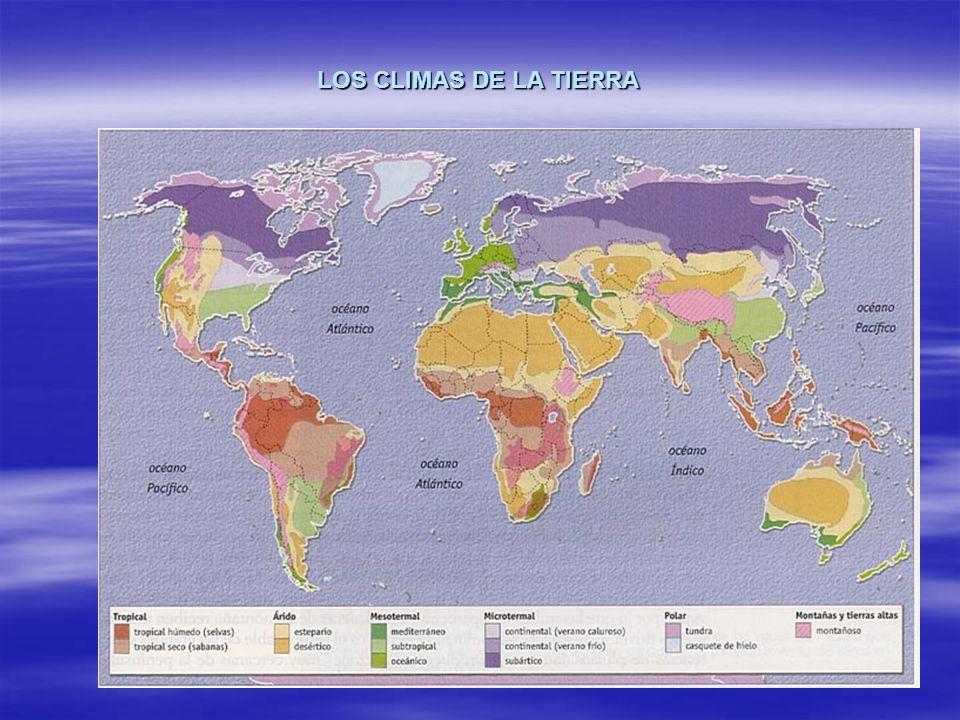 ELEMENTOS Y FACTORES DEL CLIMA ELEMENTOS DEL CLIMA TEMPERATURAS TEMPERATURAS PRECIPITACIONES PRECIPITACIONES PRESIÓN ATMOSFÉRICA PRESIÓN ATMOSFÉRICA VIENTO VIENTO HUMEDAD RELATIVA DEL AIRE HUMEDAD RELATIVA DEL AIRE FACTORES DEL CLIMA LATITUD LATITUD ALTITUD ALTITUD RELIEVE RELIEVE CONTINENTALIDAD CONTINENTALIDAD CORRIENTES COSTERAS MARINAS CORRIENTES COSTERAS MARINAS EL HOMBRE EL HOMBRE VELETA PLUVIÓMETRO BARÓMETRO HIGRÓMETRO ANEMÓMETRO