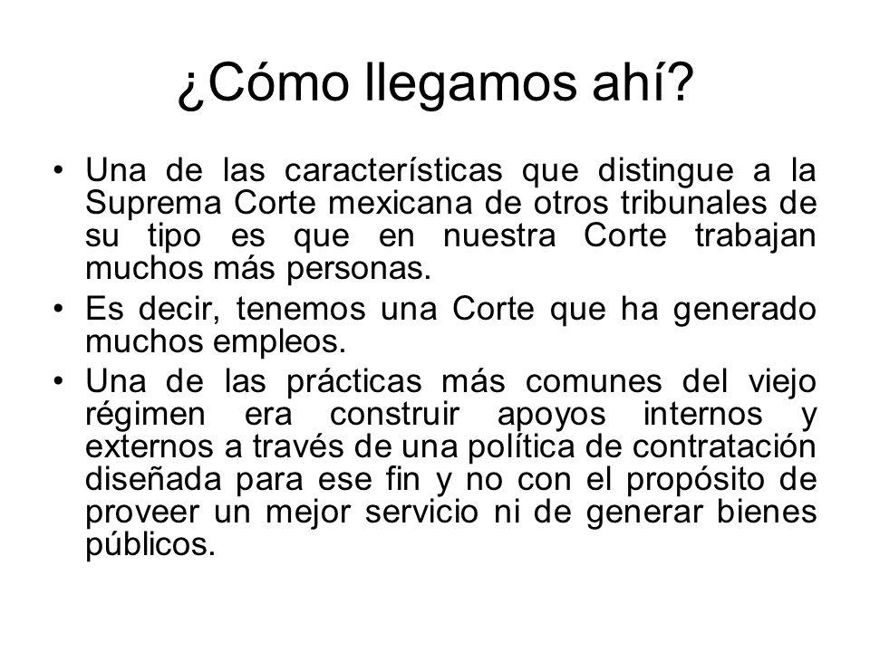 ¿Cómo llegamos ahí? Una de las características que distingue a la Suprema Corte mexicana de otros tribunales de su tipo es que en nuestra Corte trabaj