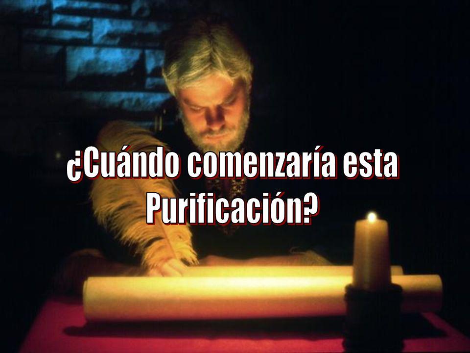 Dn 8 nos muestra Daniel 8 nos muestra cuando comenzará la purificación del Santuario