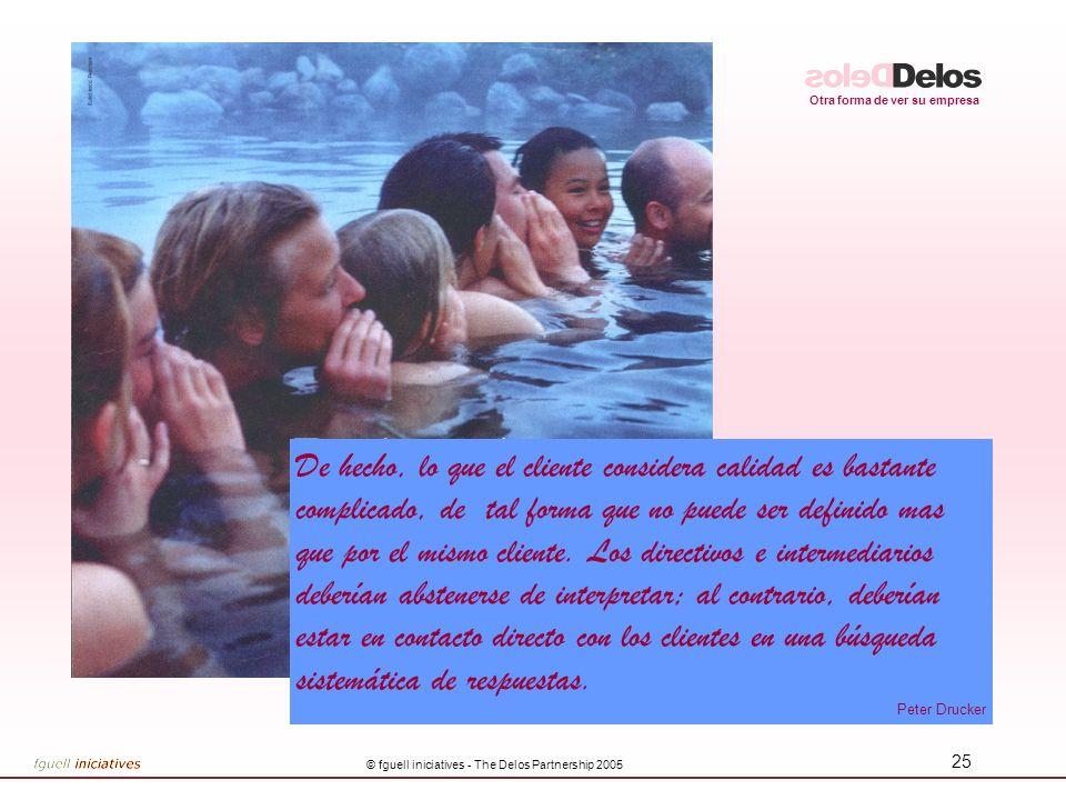Otra forma de ver su empresa © fguell iniciatives - The Delos Partnership 2005 24 Saber escuchar a nuestros clientes