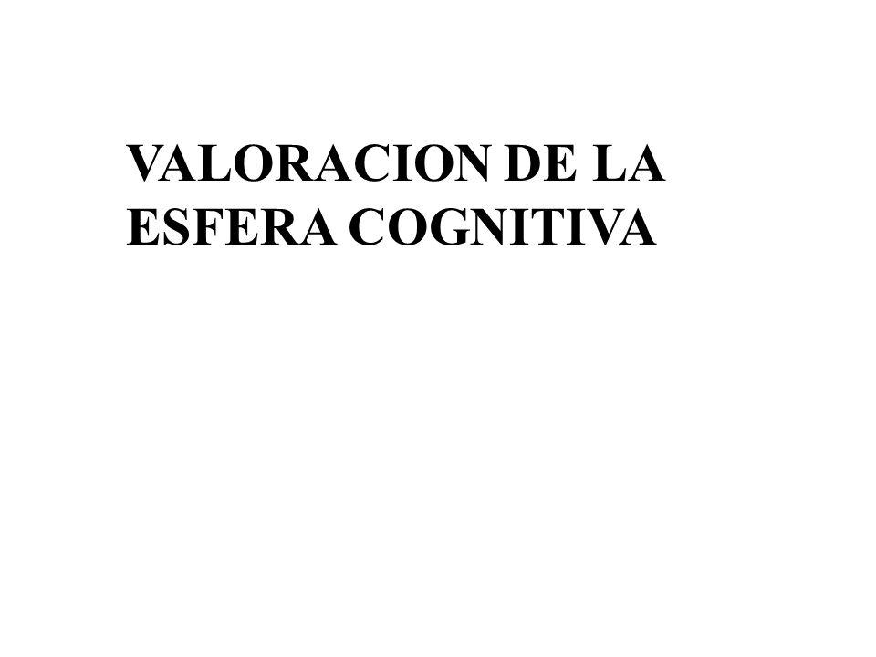 VALORACION DE LA ESFERA COGNITIVA
