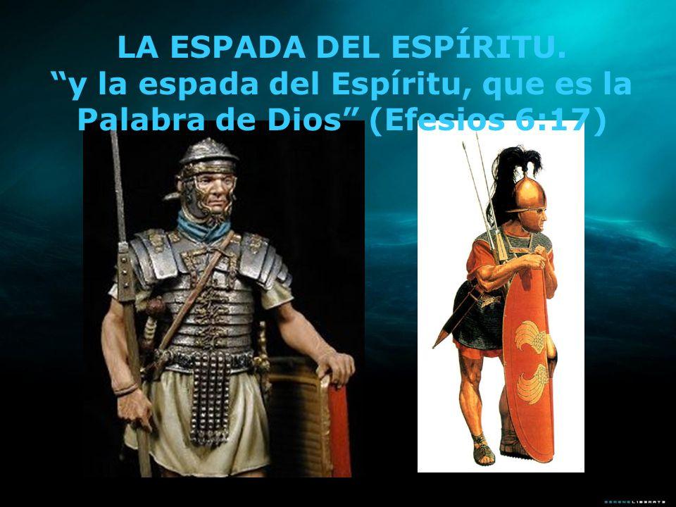 La espada que Pablo hace referencia aquí, según la etimología griega, es la machaira; esta tenía diversas longitudes, algunas medían entre unos quince y treinta centímetros.