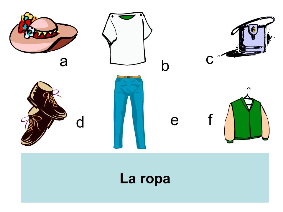 a b c d ef La ropa